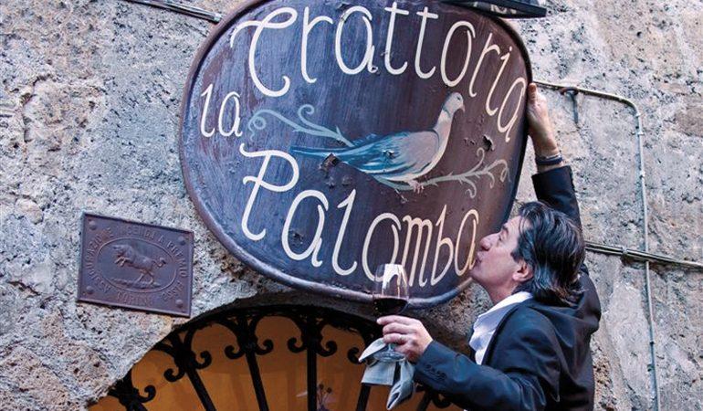 Orvieto, febbraio 2013: Trattoria La Palomba, il proprietario Giampiero Cinti.